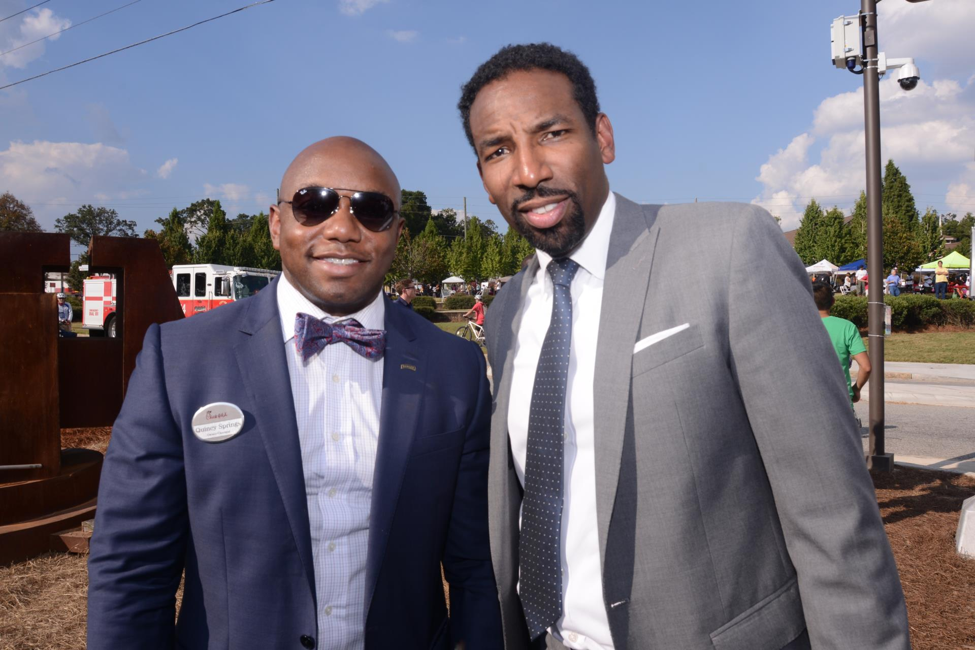Dickens with Quincy Springs of Chic fil A at Westide Beltline opening