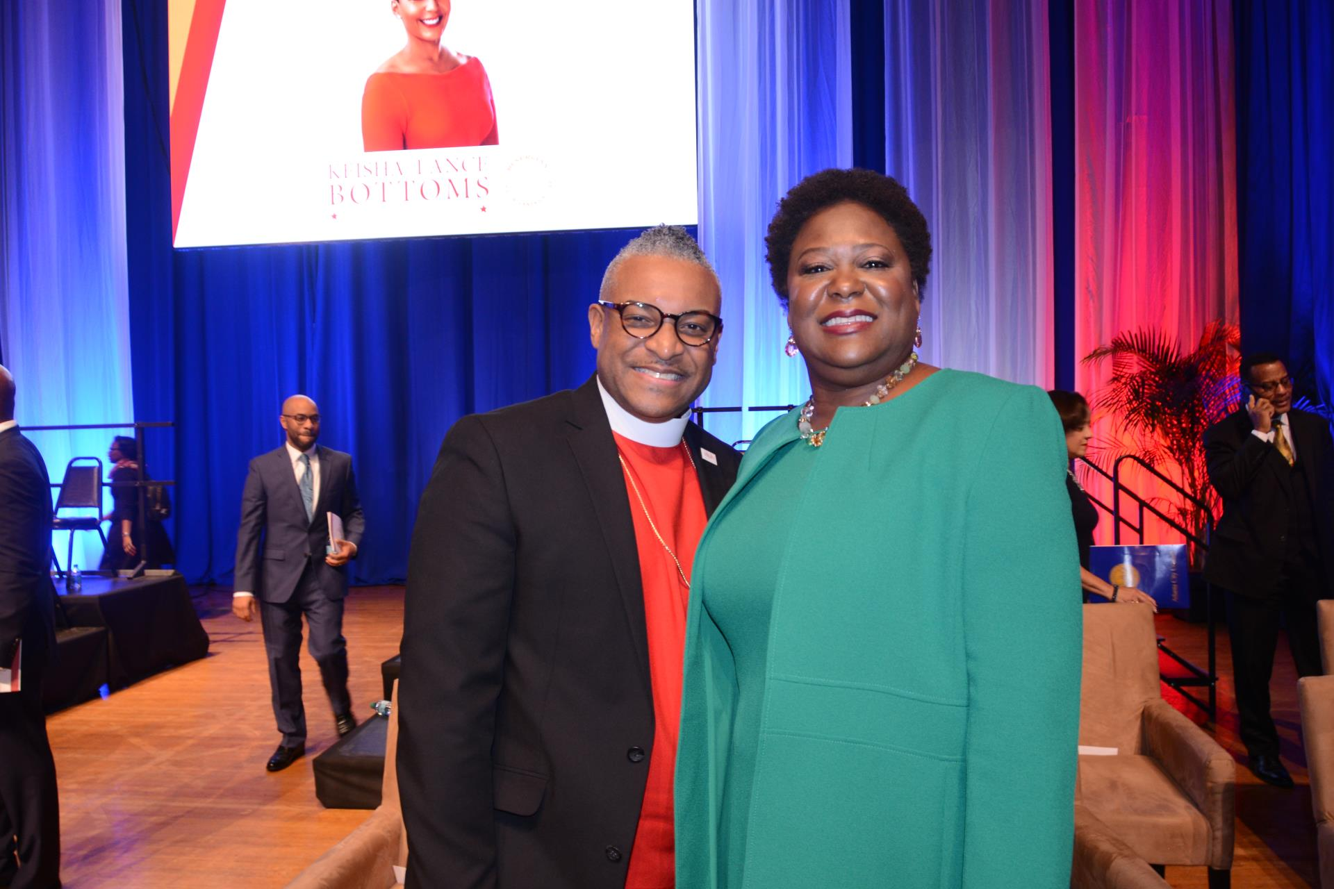 Council President Moore and Bishop Oliver Allen