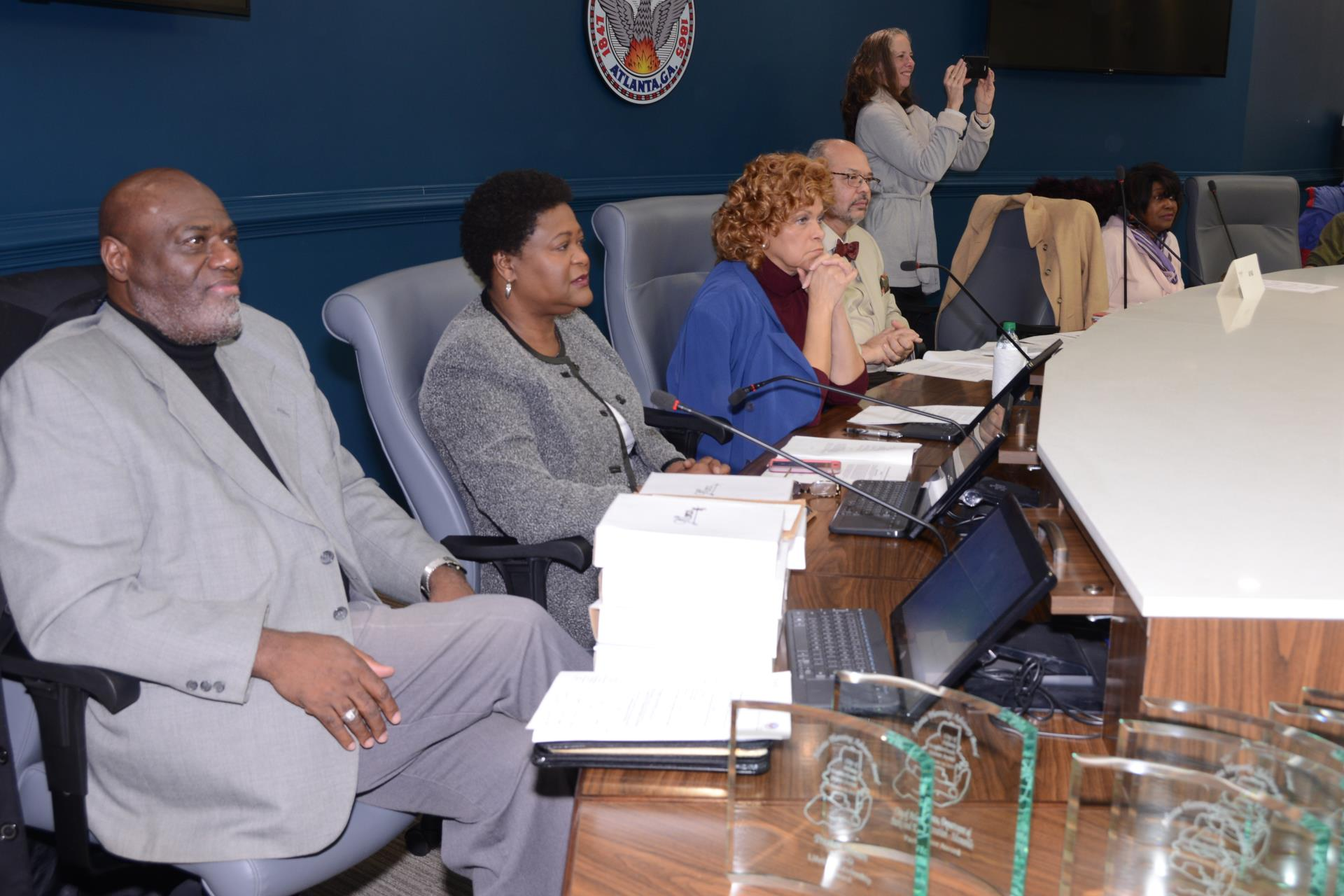 Council President Moore joins APAB officials in honoring community members