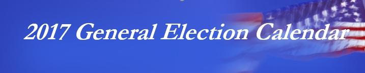 2017 General Election Calendar