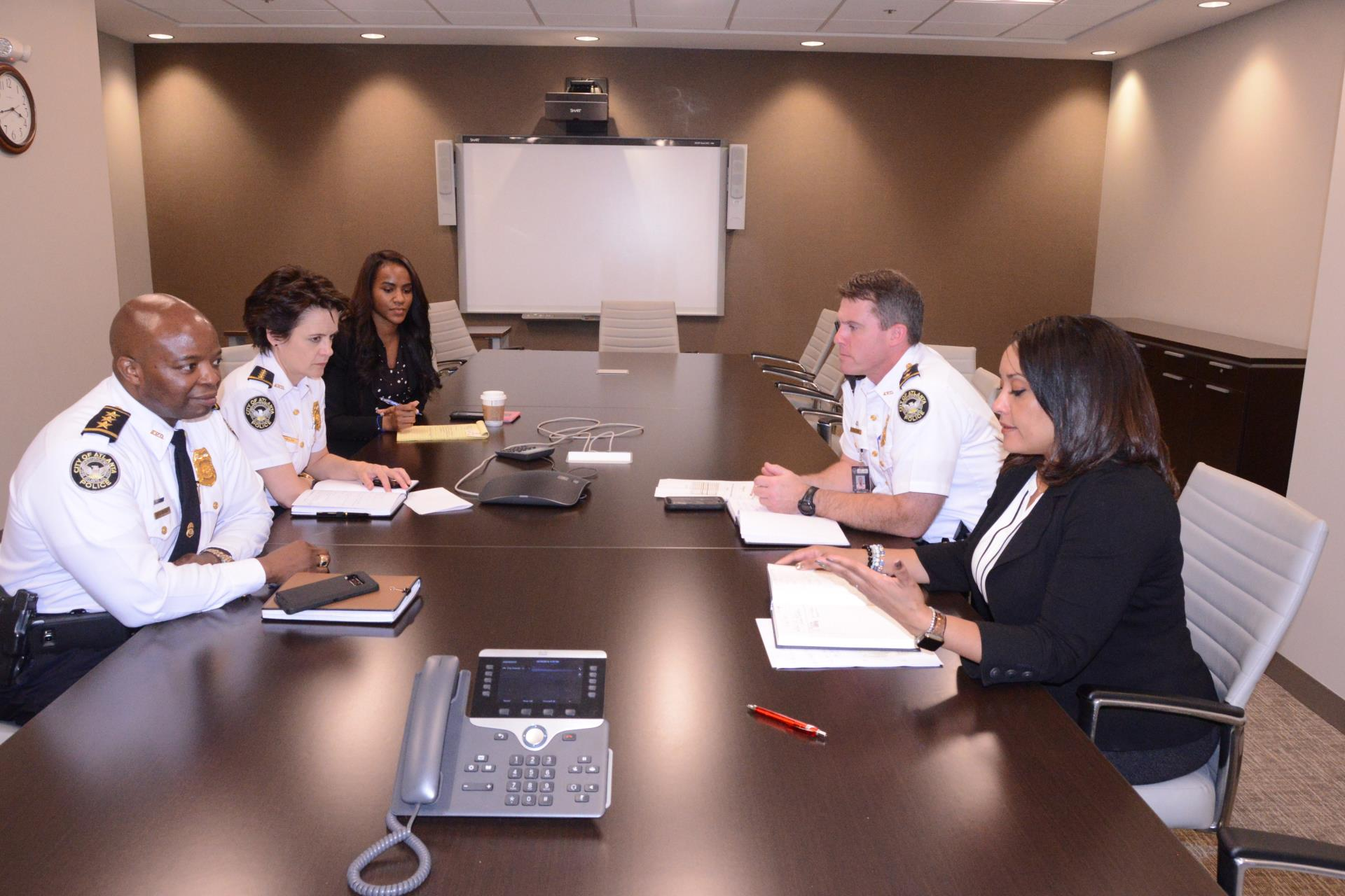 Councilmember Overstreet meets with APD Chiefs