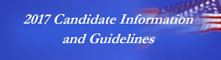 2017 Candidate Information and Guidelines